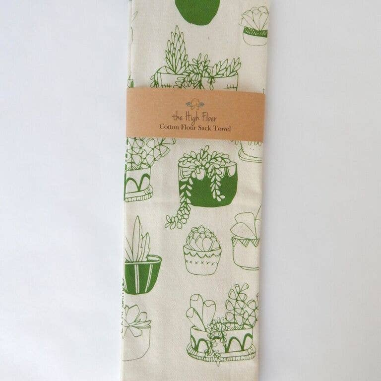 Succulents Kitchen Towel, Tea Towel
