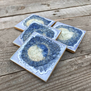 Geode Crackle Coaster - Periwinkle