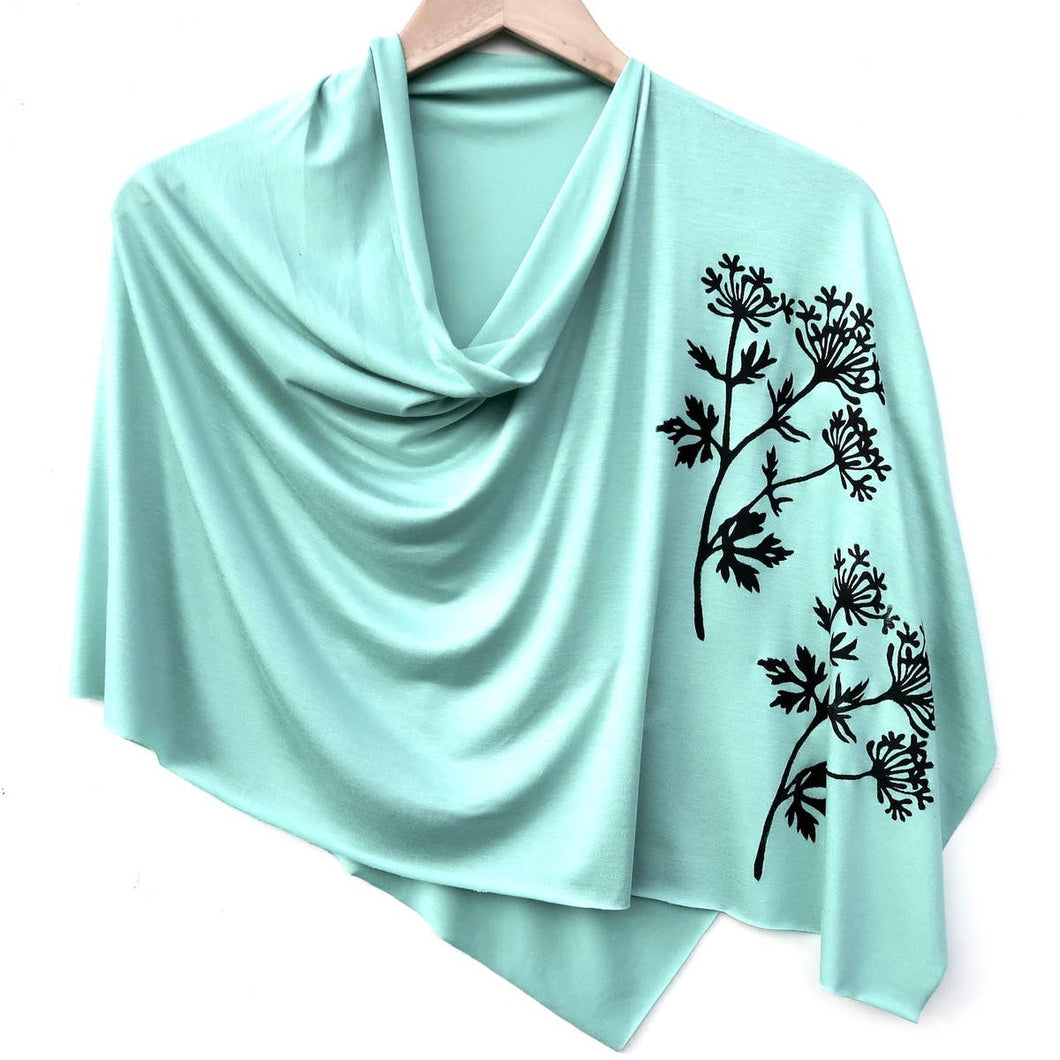 Parsley Poncho Green Topaz with Black