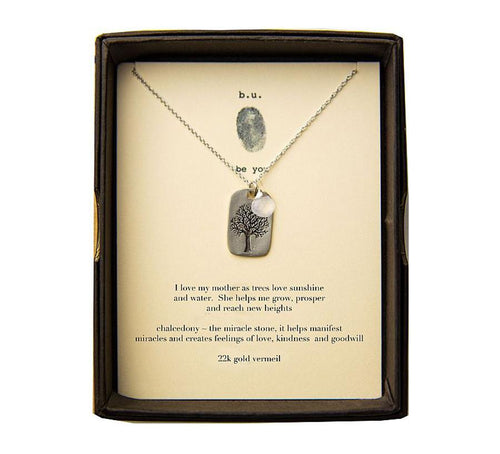 Love my Mother as Trees and Sunshine Necklace