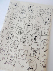 Cats Kitchen Towel, Tea Towel -Black