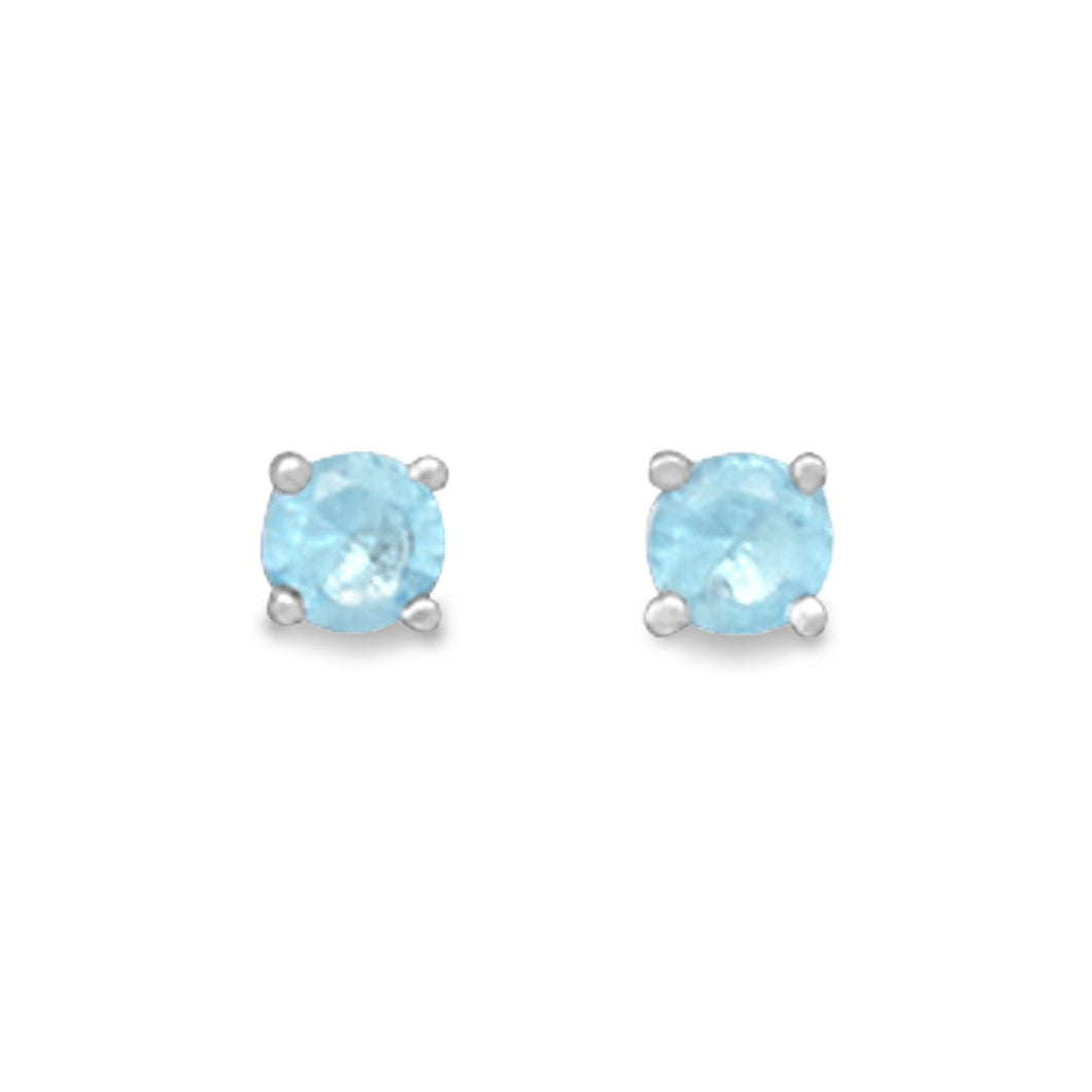 March Birthstone Stud Earrings