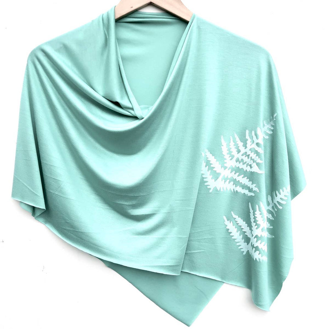 Fern Poncho Green Topaz with White