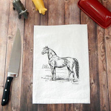 Load image into Gallery viewer, Horse Flour Sack Tea Towel