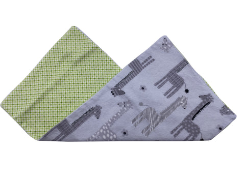 Giraffes & Checkers Burp Cloth
