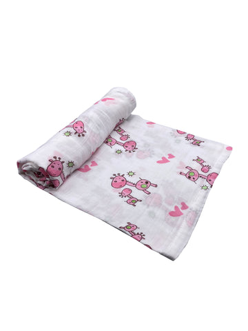 Pink Giraffes Infant Swaddle Blanket