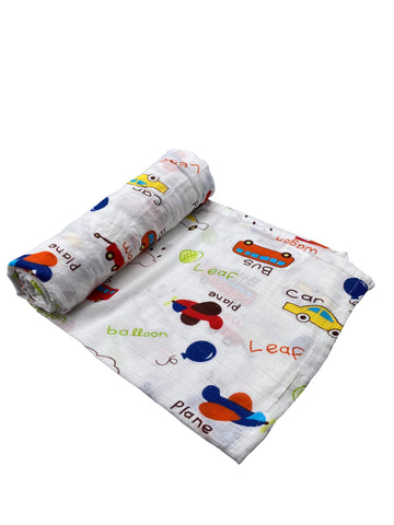 Planes, Trains & Automobiles Baby Swaddle Blanket