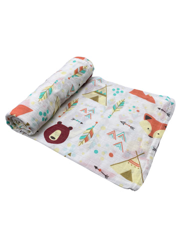 Tepees and Adventure Baby Swaddle Blanket