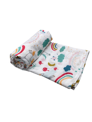 Unicorns & Rainbows Swaddle Blanket
