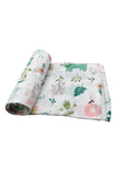 Whimsical Floral Swaddle Blanket