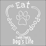 Eat. Sleep. Poop. T-Shirt ~ Apollo's Pack - the Pack that gives Back