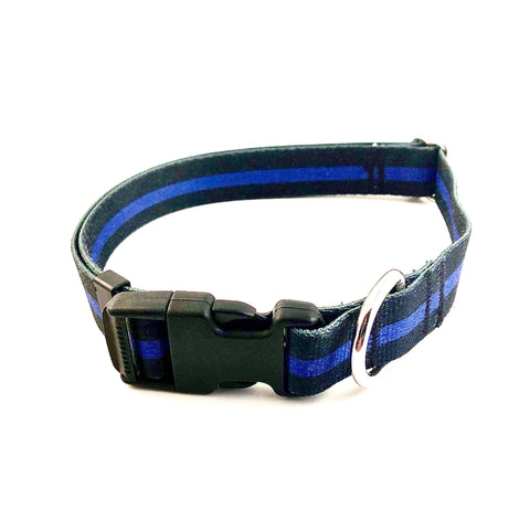 Blue Line Collar S, M, L, XL ~ Apollo's Pack - the Pack that gives Back