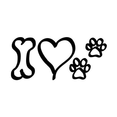 I Heart Dogs Sticker ~ Apollo's Pack - the Pack that gives Back