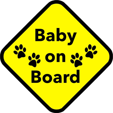 Baby on Board Sticker ~ Apollo's Pack - the Pack that gives Back