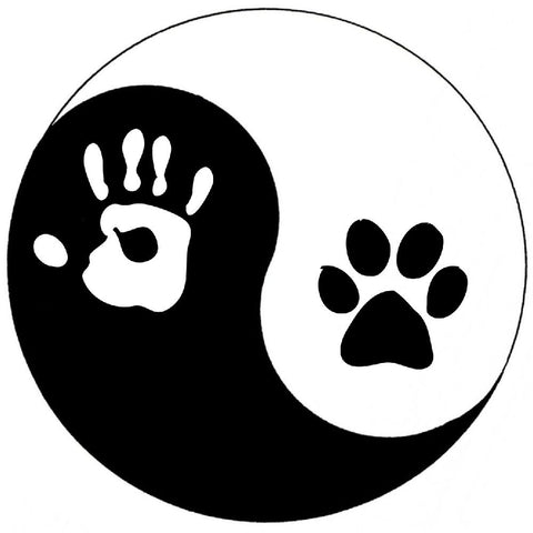Yin-Yang Dog Sticker ~ Apollo's Pack - the Pack that gives Back