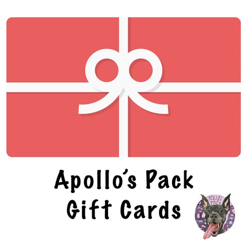Apollo's Pack Gift Card ~ Apollo's Pack - the Pack that gives Back