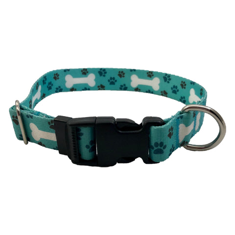 Teal Bone Collar S, M, L, XL ~ Apollo's Pack - the Pack that gives Back
