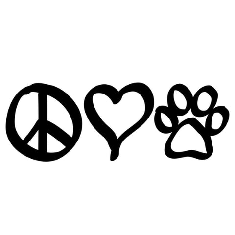 Peace Love Dogs Sticker ~ Apollo's Pack - the Pack that gives Back