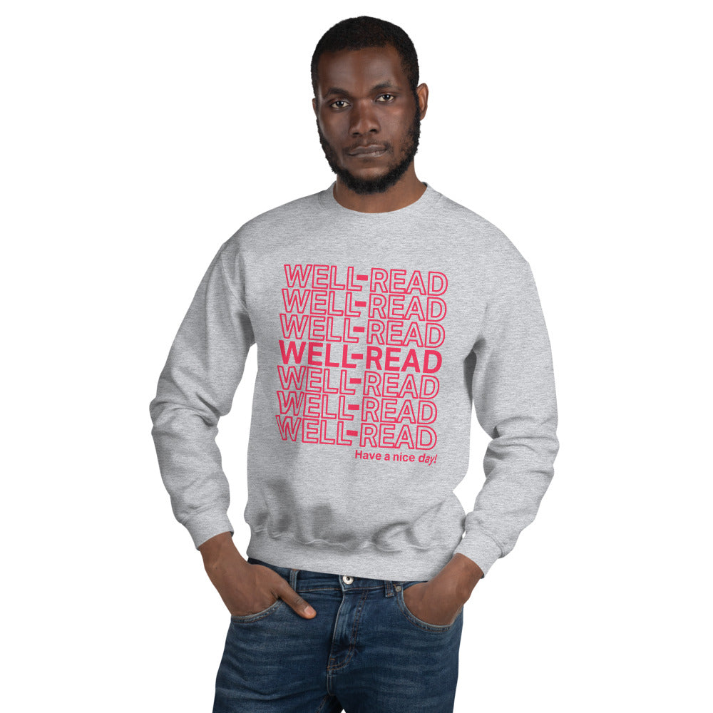 WELL-READ Sweatshirt (rose lettering)