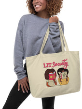 LIT Large organic tote bag