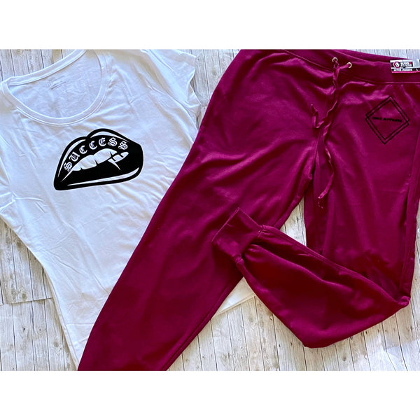 Ladies Lips Jogger Set - Large