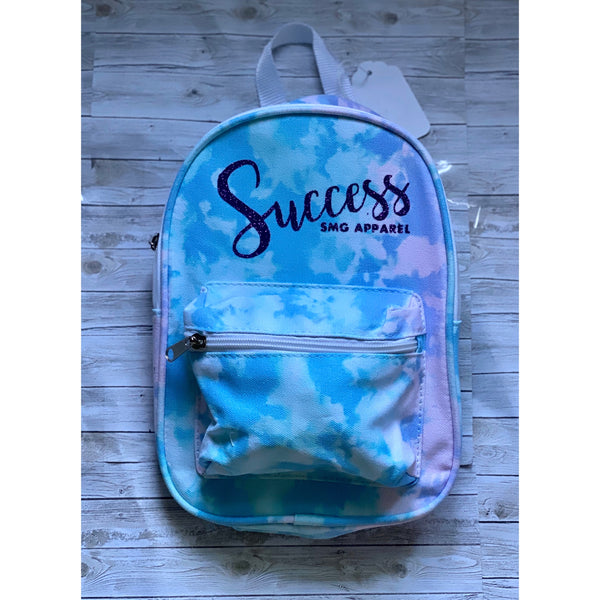 Blue Tie Dye Mini Bookbag