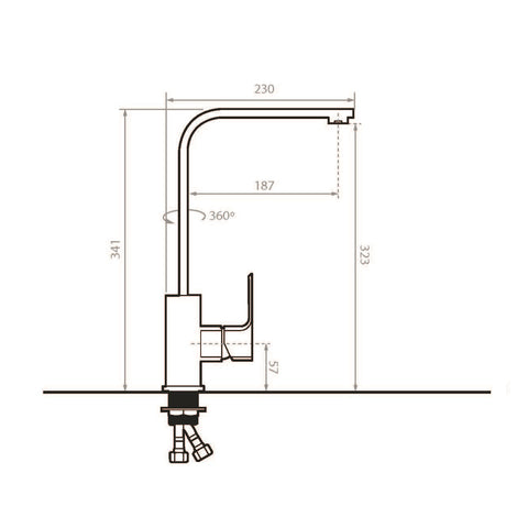 DRAA Chrome High Rise Kitchen Faucet