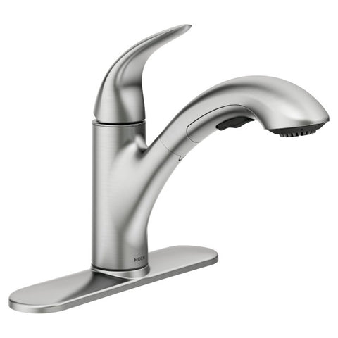 MEDINA Spot Resist Stainless One-Handle Pullout Kitchen Faucet
