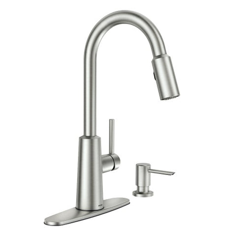 NORI Spot Resist Stainless One-Handle High Arc Pulldown Kitchen Faucet