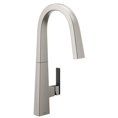 NIO Spot Resist Stainless One-Handle High Arc Pulldown Kitchen Faucet