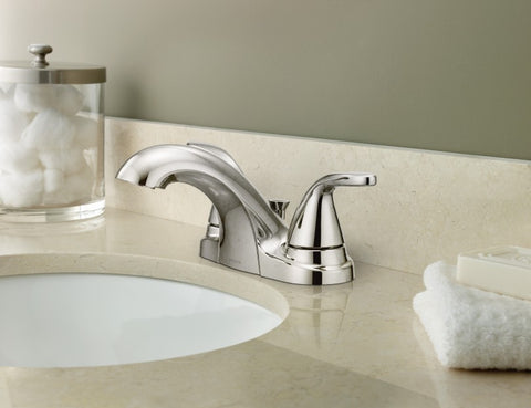 ADLER Chrome Two-Handle Bathroom Faucet