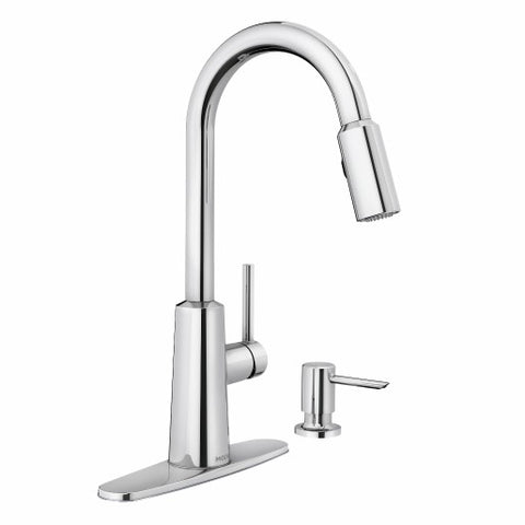 NORI Chrome One-Handle High Arc Pulldown Kitchen Faucet