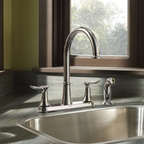 SOLIDAD Chrome Two-Handle High Arc Kitchen Faucet