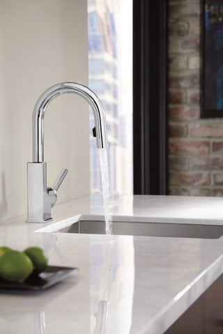 STo Chrome One-Handle High Arc Pulldown Bar Faucet