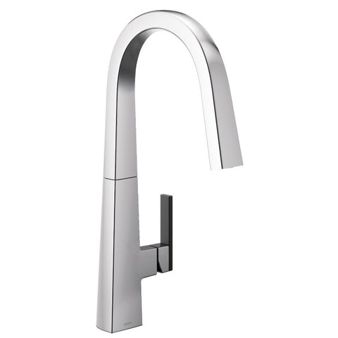 NIO Chrome One-Handle High Arc Pulldown Kitchen Faucet