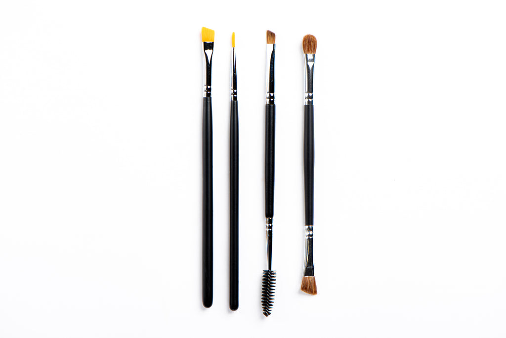 JS Eye Brushes Group White BG - Jus Shanna Collection