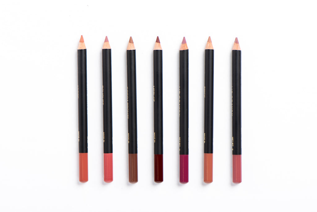 JS Lip Liner Pencil Group White BG - Jus Shanna Collection