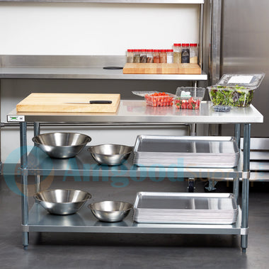 "30"" X 60"" Stainless Steel Work Table With 2 Undershelf"