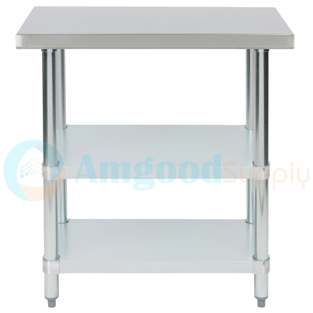 "18"" X 30"" Stainless Steel Work Table With 2 Undershelf"