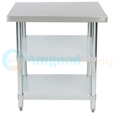 "24"" X 30"" Stainless Steel Work Table With 2 Undershelf"