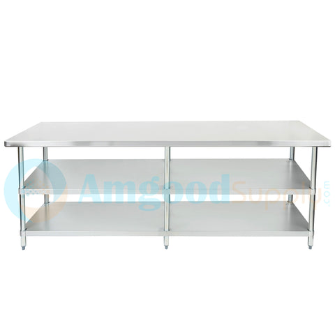 "30"" X 96"" Stainless Steel Work Table With 2 Undershelf"