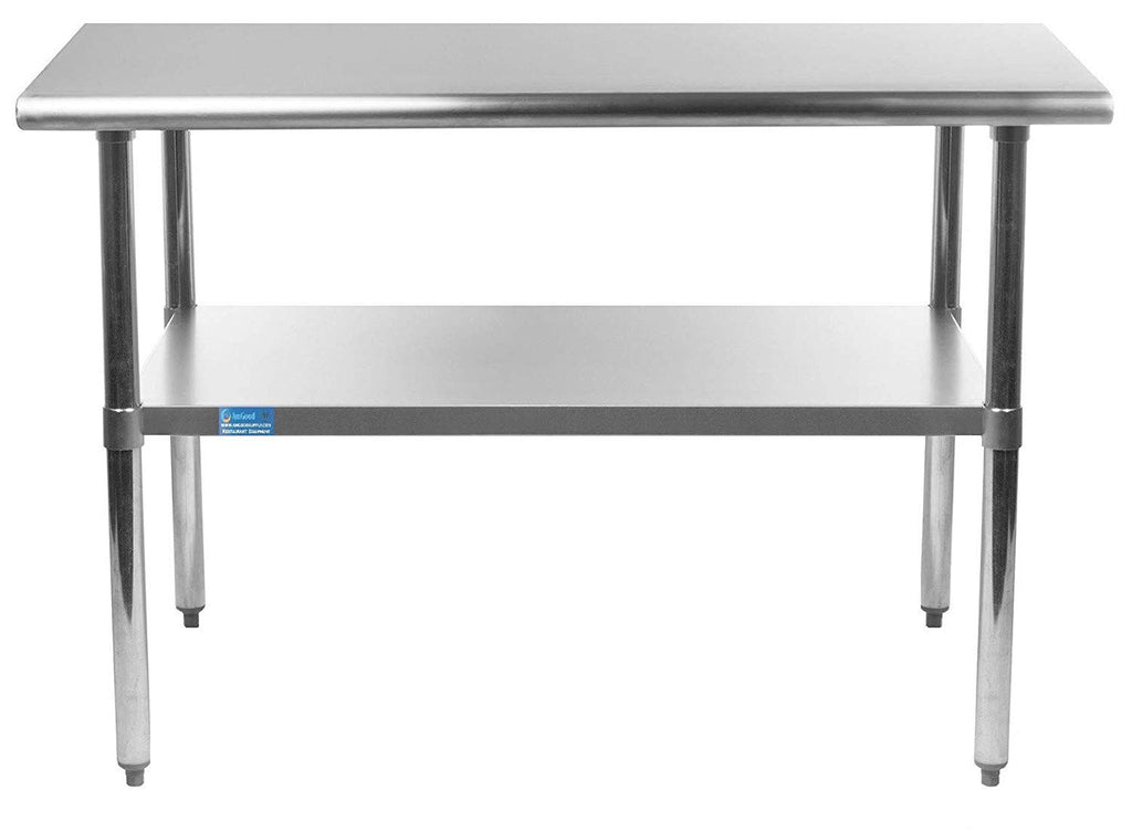 "18"" X 36"" Stainless Steel Work Table With Galvanized Undershelf - AmGoodSupply.com"