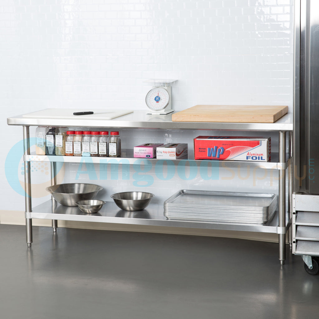 "30"" X 72"" Stainless Steel Work Table With 2 Undershelf"