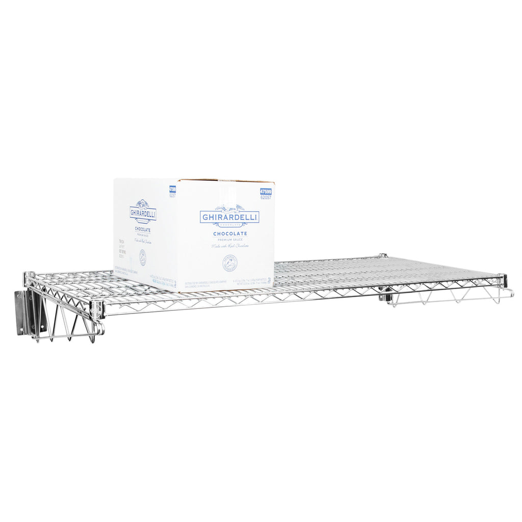 "14"" X 48"" Chrome Wire Wall Mount Shelf - AmGoodSupply.com"