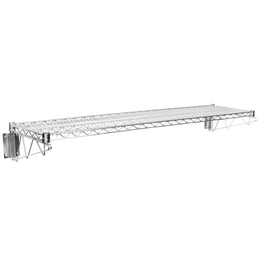 "14"" X 60"" Chrome Wire Wall Mount Shelf"