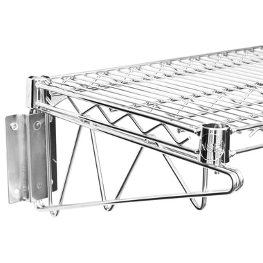 "14"" X 60"" Chrome Wire Wall Mount Shelf - AmGoodSupply.com"