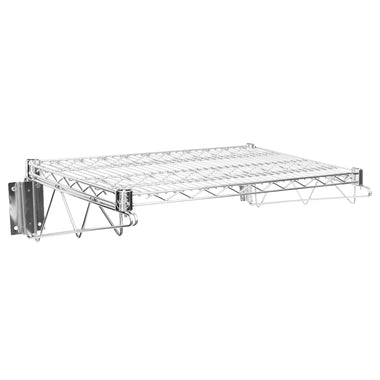 "18"" X 24"" Chrome Wire Wall Mount Shelf"