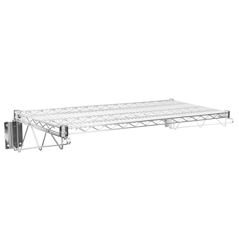 "18"" X 36"" Chrome Wire Wall Mount Shelf - AmGoodSupply.com"