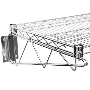 "18"" X 36"" Chrome Wire Wall Mount Shelf"