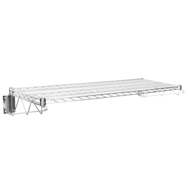 "18"" X 48"" Chrome Wire Wall Mount Shelf - AmGoodSupply.com"
